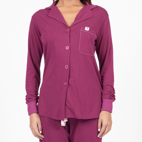 Long Sleeve Pajama Top - Pinot