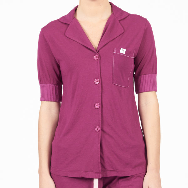 Short Sleeve Pajama Top - Pinot