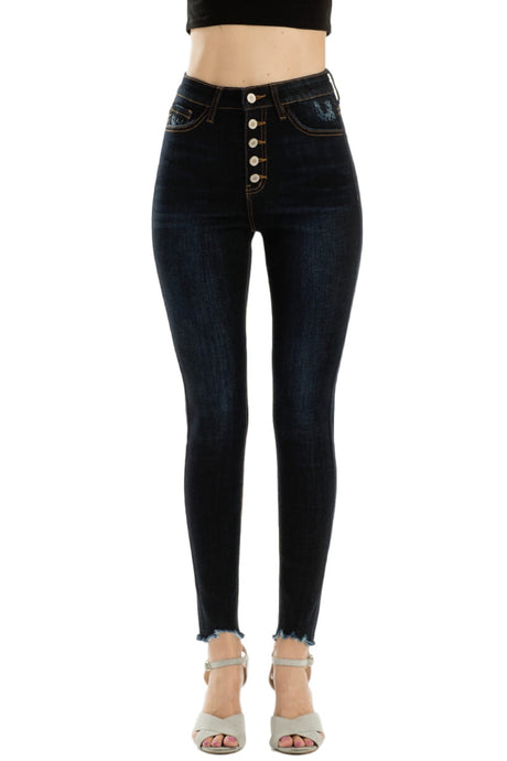 Nora High Rise Button Fly Skinny