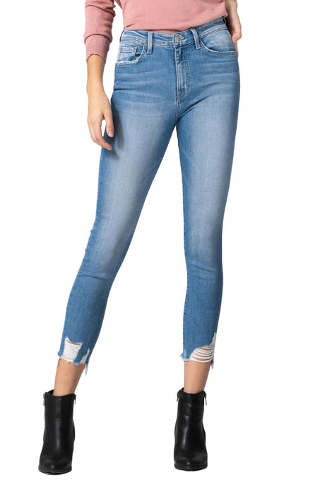 Flying Monkey Jeans Collection: January 2020 Style Name: Fleeting  Color: Medium Wash Cut: Ankle Skinny, 27