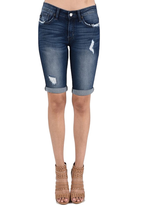KanCan Jeans  Collection: February  Style Name: Kevia-Lovis  Color: Medium Dark Wash  Cut: Bermudas, 11