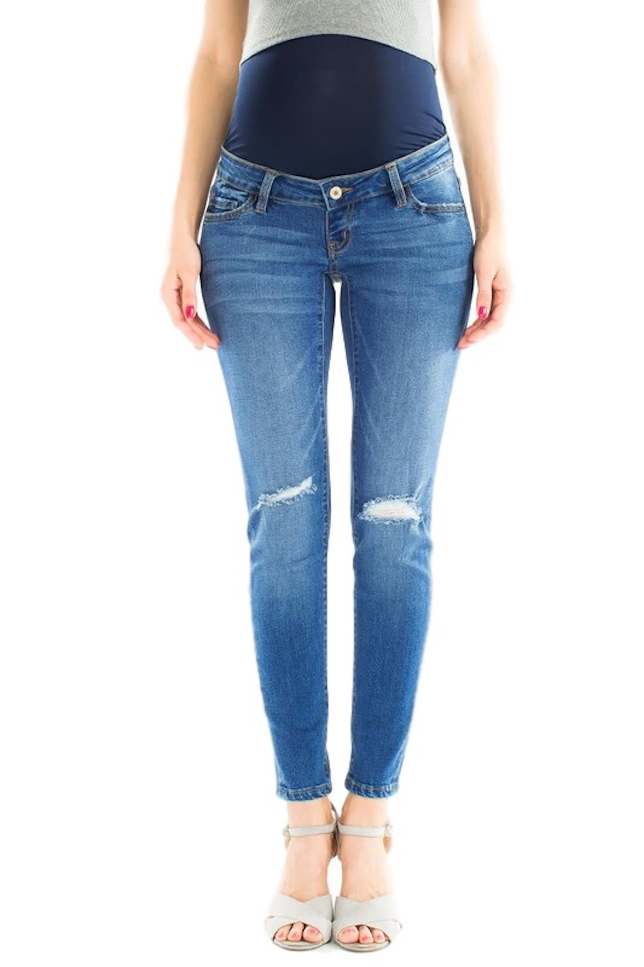 de0931a2cb0da Load image into Gallery viewer, KanCan Maternity Jeans Collection: Summer  2019 Color: Light ...