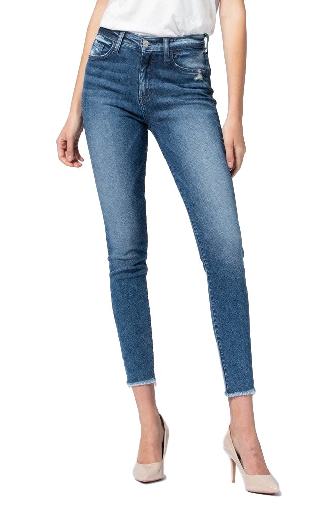 Flying Monkey Jeans Collection: September 2019 Style Name: Free Spirit  Color: Medium Wash Cut: Ankle Skinny, 27