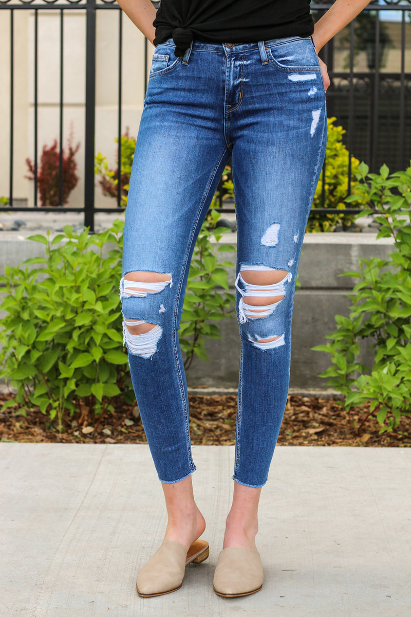 Flying Monkey Jeans Collection: Summer 2020 Style Name: All Your Love  Color: Medium Wash Cut: Ankle Skinny, 27