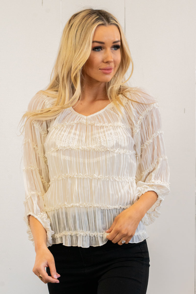 Balloon Sleeve Blouse Top