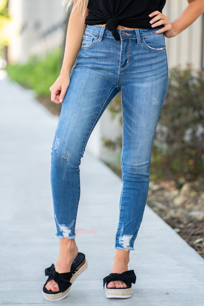 Nature Denim  Collection: Summer 2020 Color: Medium Wash Cut: Ankle Skinny, 27