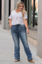 Plus Size Mid Rise Trouser Flare