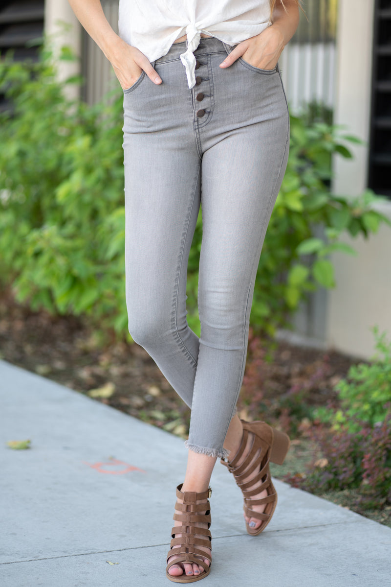 Nature Denim  Collection: Summer 2020 Color: Grey Cut: Ankle Skinny, 27.5