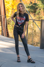 "JBD Label By Just USA Jeans  Color: Black Cut: Ankle Skinny, 26"" Inseam High Rise, 9"" Front Rise   Stitching: Classic Fly: Zipper Style #: DP460 Contact us for any additional measurements or sizing."