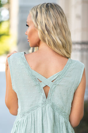 Mint Lace Me In Top
