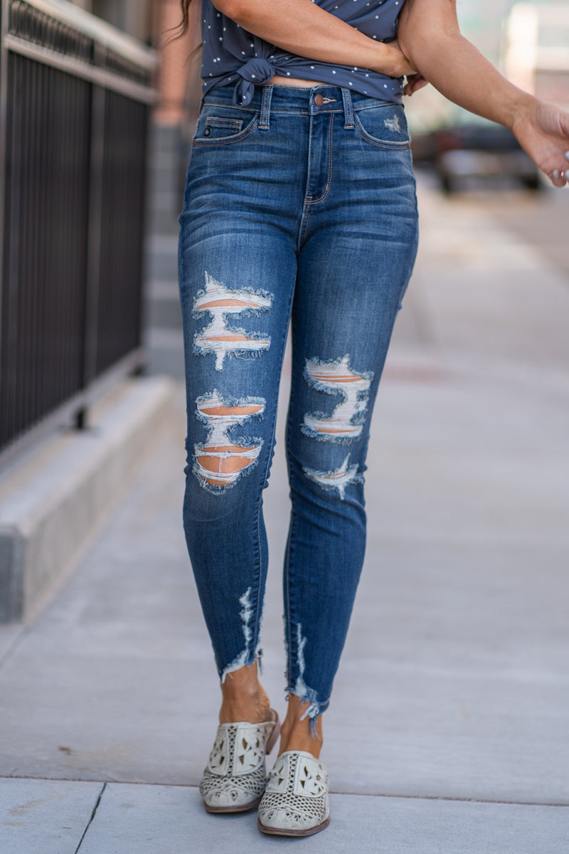 Judy Blue Collection: Summer 2020 Color: Dark Wash Cut: Ankle Skinny, 27