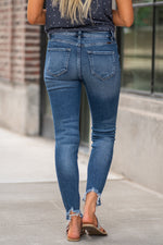 "Kan Can Jeans  Collection: Core Collection Color: Medium Wash Cut: Ankle Skinny, 27.5"" Inseam Rise: High-Rise, 9.5"" Front Rise 95% COTTON 4% POLYESTER 1% SPANDEX Fly: Zipper Style #: KC8572D"