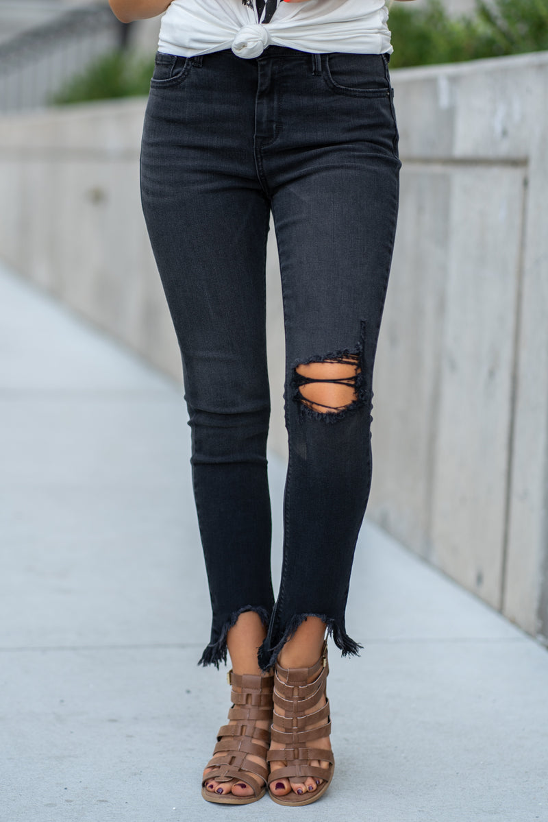 Hidden Jeans Collection: Fall 2020 Color: Black Cut: Ankle Skinny, 27