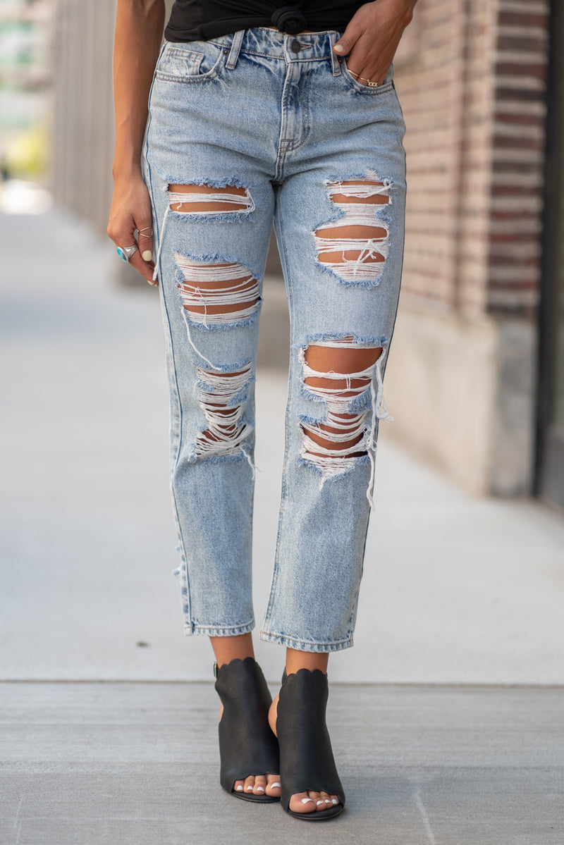 Hidden Jeans Collection: Fall 2020 Color: Light Blue Wash Cut: Relaxed Boyfriend Mom Fit, 27: Inseam Rise: High-Rise, 10.5