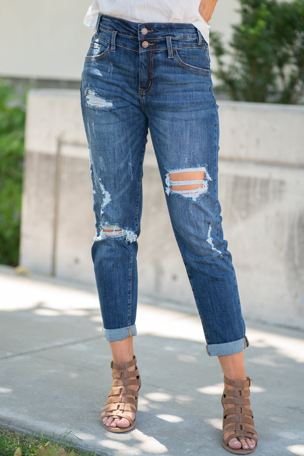 High Rise Mom Boyfriend Jeans