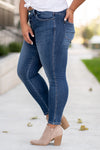 "VERVET by Flying Monkey Jeans Collection: Fall 2020 Name: Overboard Skinny, 27"" Inseam Rise: Mid Rise, 11.25"" Front Rise 93.5% COTTON 5.6% POLYESTER 0.9% SPANDEX Machine Wash Separately In Cold Water Stitching: Classic Fly: Zipper Style #: VT1192-PL Contact us for any additional measurements or size.  Amelia is 5'9"" and wears a 14W and 1XL top."