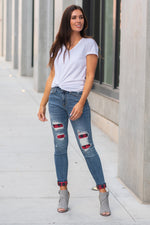 So Buffalo - Plaid Patch Skinny