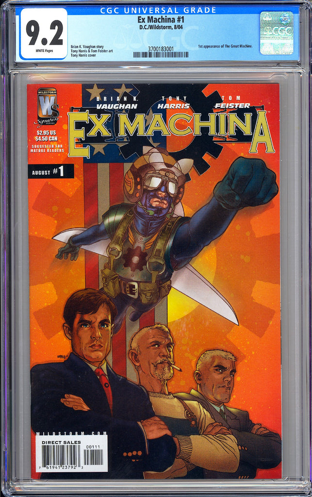 Ex Machina #1 CGC 9.2 WP 2004 3700183001 1st ap. the Great Machine