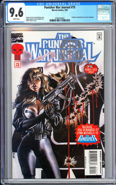 Punisher War Journal #75 CGC 9.6 White Pages 1995 3700183002