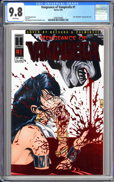 Vengeance of Vampirella #1 CGC 9.8 White Pages (1994) 3700183003