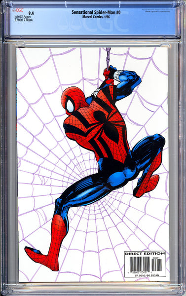 Sensational Spider-Man #0 CGC 9.4 White Pages (1996) 3700177004