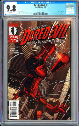 Daredevil #v2 #1 CGC 9.8 White Pages 3700177005 Kevin Smith