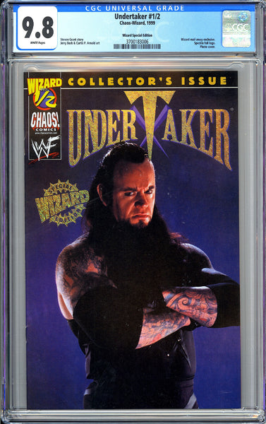 Undertaker #1/2 CGC 9.8 White Pages 1999 3700183006 Wizard Special