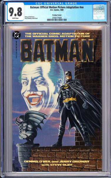 Batman Official Motion Picture Adaptation #nn CGC 9.8 WP 1989 3700177009