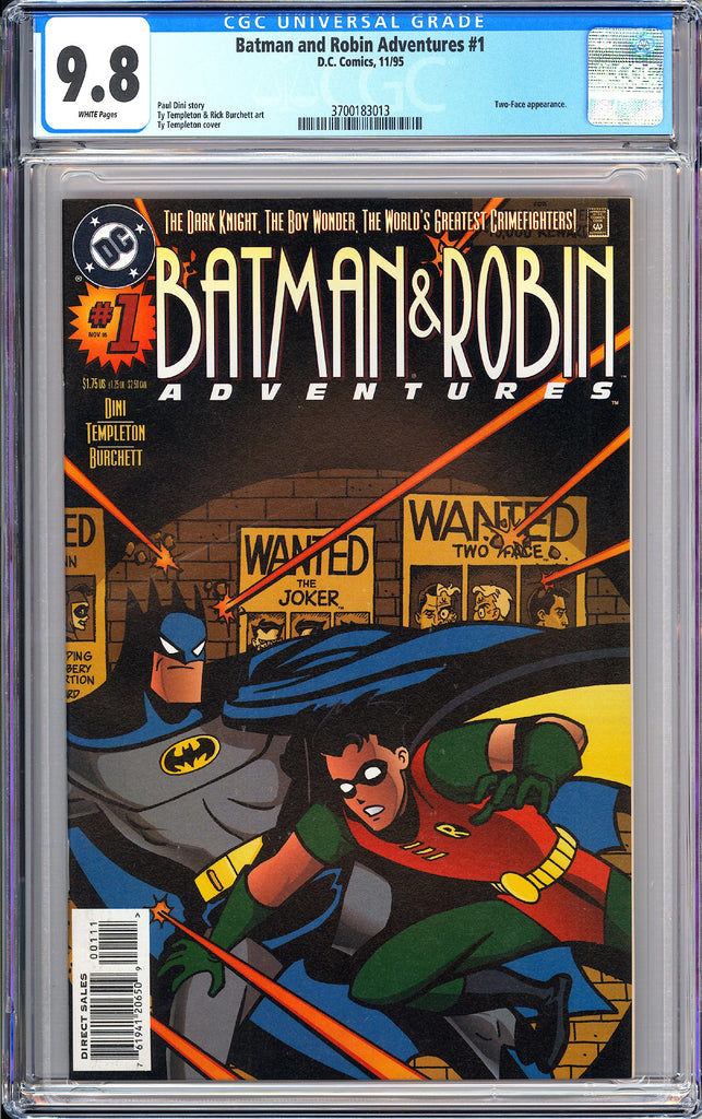 Batman & Robin Adventures #1 CGC 9.8 White Pages 1995 3700183013 Two-Face