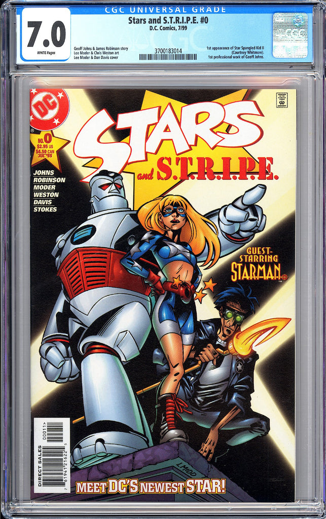 Stars and S.T.R.I.P.E. #0 CGC 7.0 White Pages (1999) 3700183014