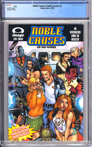 Noble Causes Family Secrets #3 CGC 9.2 White Pages (2002) 3700177015