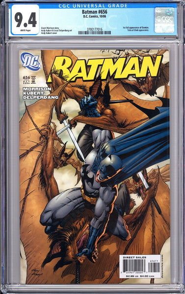 Batman # 656 CGC 9.4 White Pages 3700177016 Damian