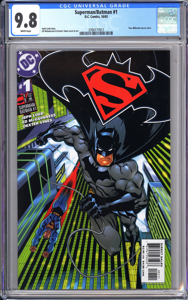 Superman/Batman #1 CGC 9.8 White Pages (2003) 3700177017
