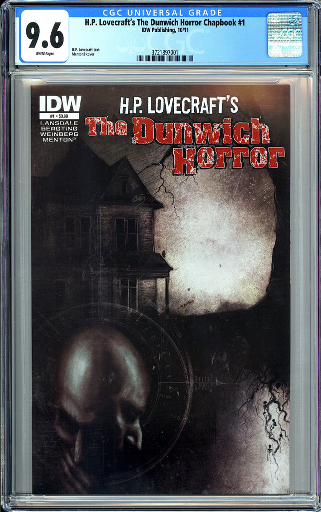 H.P. Lovecraft's Dunwich Horror Chapbook #1 CGC 9.6 WP 3721897001 Menton3 Cover