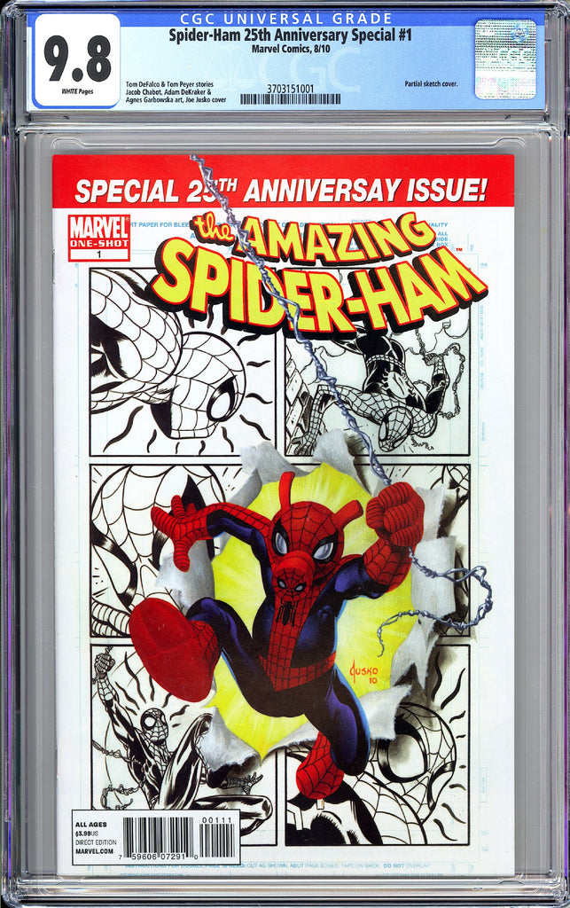 Spider-Ham 25th Anniversary Special #1 CGC 9.8 White Pages (2010) 3703151001