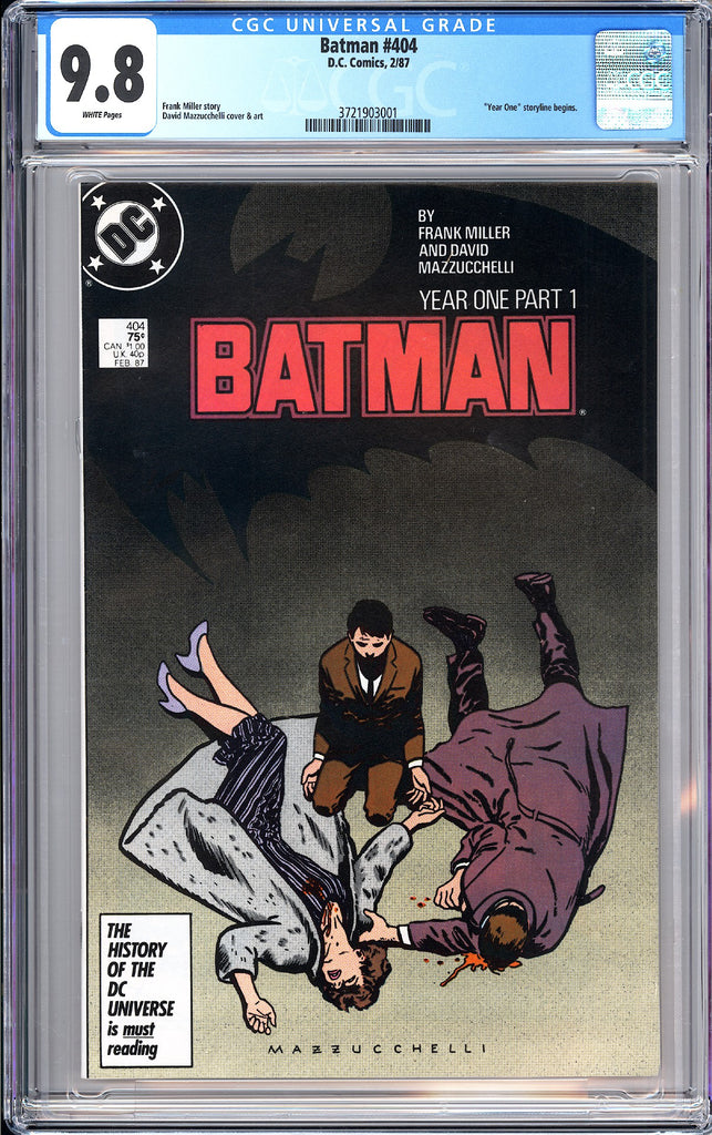 "Batman # 404 CGC 9.8 White Pages 1987 3721903001 """"Year One"""" Storyline Begins"