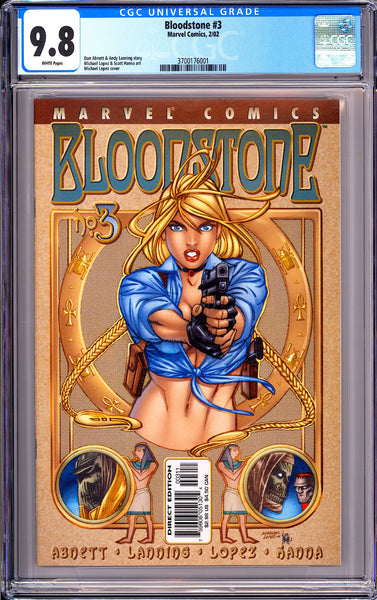 Bloodstone #3 CGC 9.8 White Pages (2002) 3700176001