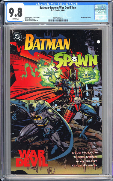 Batman-Spawn War Devil CGC 9.8 WP 1994 3700177025 Wraparound cover