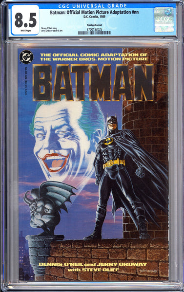 Batman Official Motion Picture Adaptation #nn CGC 8.5 WP 1989 3700183025