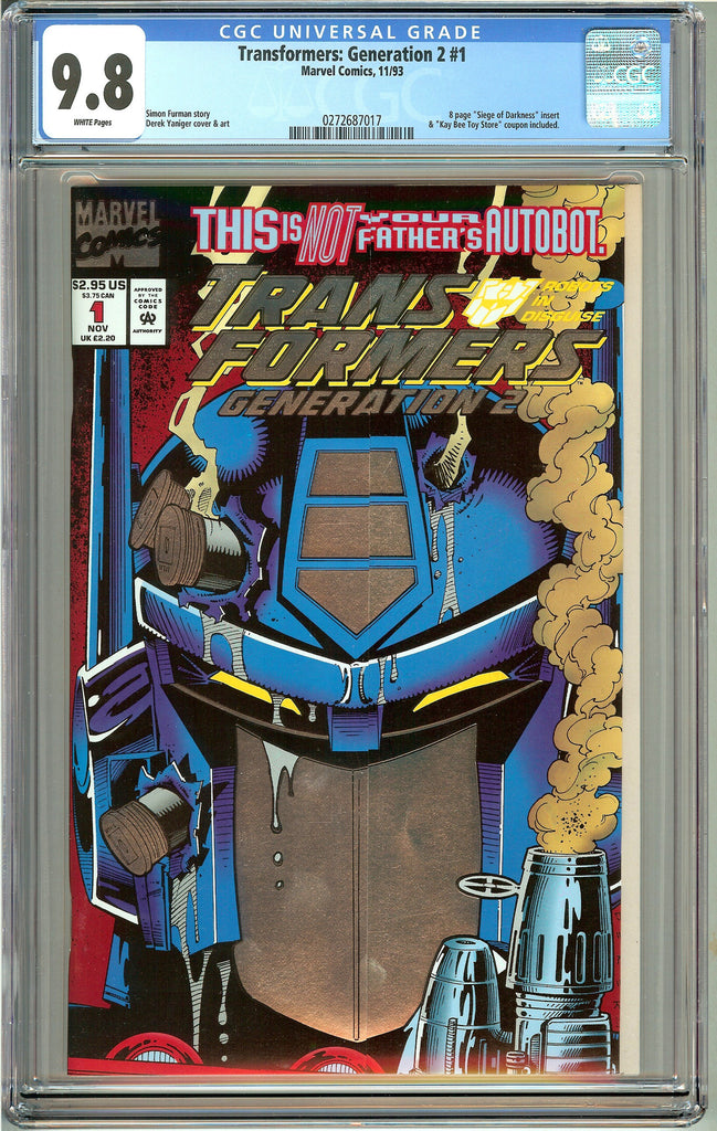 Transformers Generation 2 #1 (1993) CGC 9.8 White Pages 0272687017
