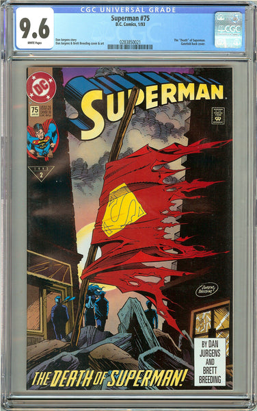 Superman #75 CGC 9.6 White Pages 0283850021 Death of Superman