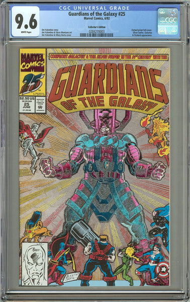 Guardians of the Galaxy #25 (1992) CGC 9.6 White Pages 0284270003