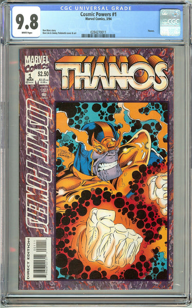 Cosmic Powers #1 Thanos (1994) CGC 9.8 White Pages 0284270011