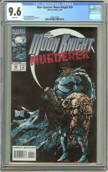 Marc Spector: Moon Knight #59 CGC 9.6 White Pages 0284270025 Stephen Platt