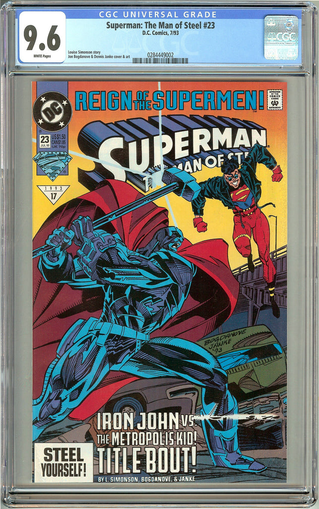 Superman The Man of Steel #23 (1993) CGC 9.6 White Pages 0284449002