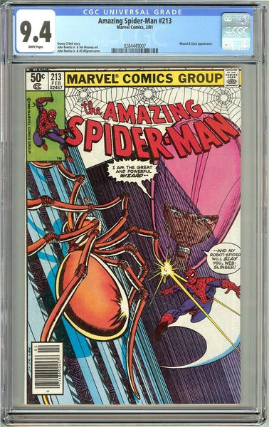 Amazing Spider-Man #213 (1981) CGC 9.4 White Pages 0284449007