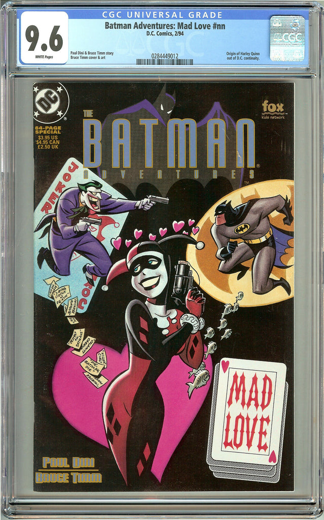 Batman Adventures: Mad Love (1994) CGC 9.6 White Pages 0284449012 Harley Quinn