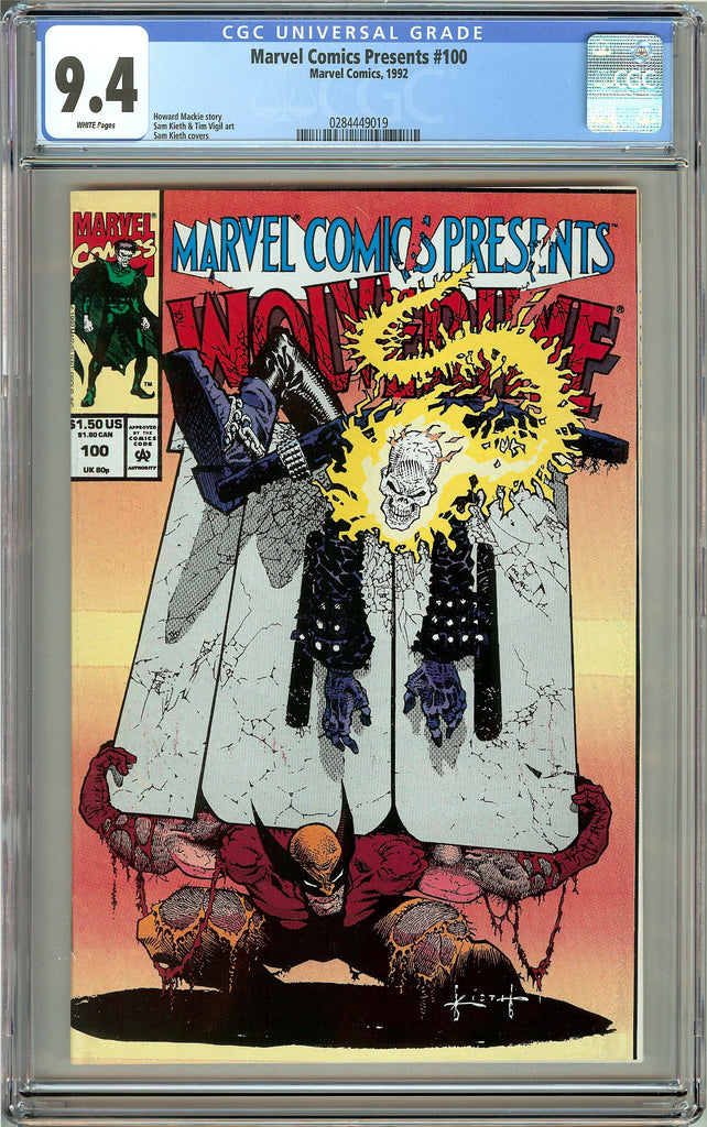 Marvel Comics Presents #100 (1992) CGC 9.4 White Pages 0284449019