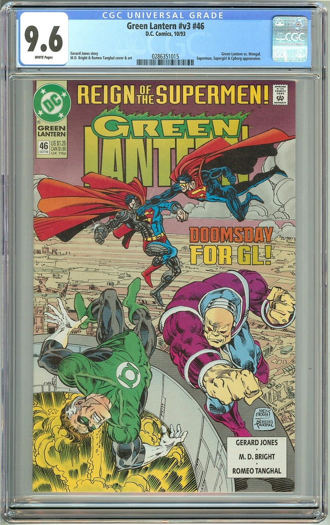 Green Lantern #46 (1993) CGC 9.6 White Pages 0286351015