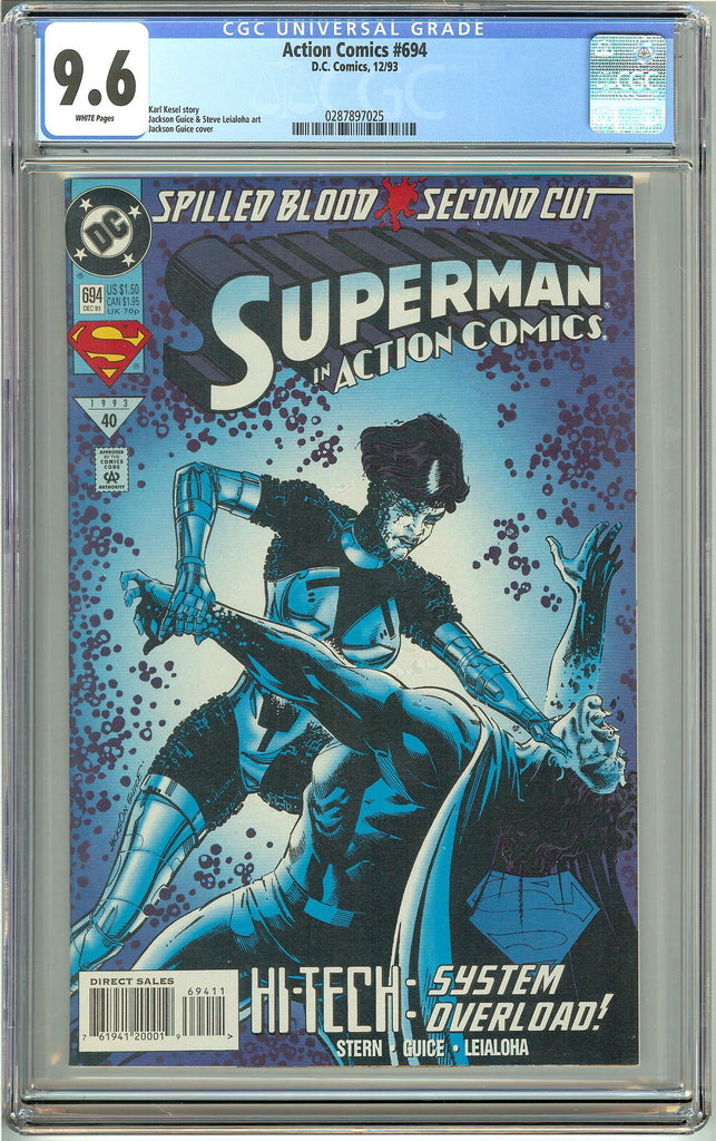 Action Comics #694 (1993) CGC 9.6 White Pages 0287897025